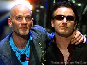 Michael Stipe & Bono