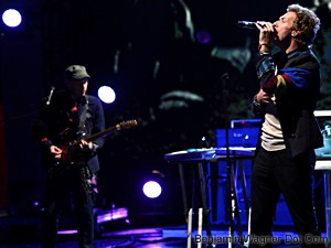 Coldplay rehearse for 2008 MTV Movie Awards