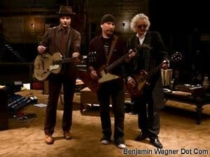 Jack White, The Edge & Jimmy Page